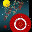 冬景色を描こう 和傘