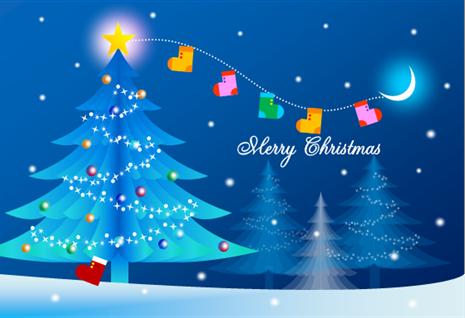~クリスマスを描こう~ クリスマスカード