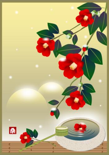 ~椿と雪景色を描こう~ 「後編」